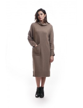 Maxi pullover with pockets