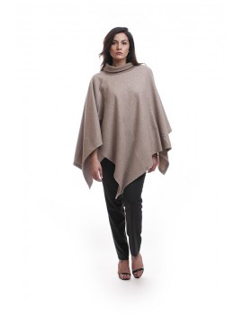 Cape with highneck