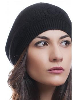 Cappello basco punto links 100% cashmere 6c4a84324435
