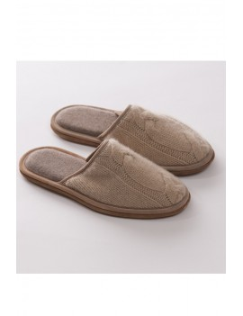 Slippers in pure cashmere