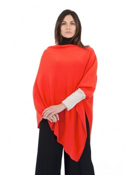 Poncho with one cuff