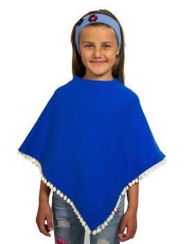 Poncho Bambina in Cashmere...