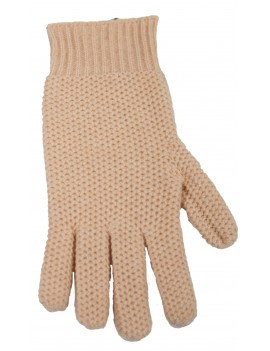 Glove in Cashmere Honeycomb