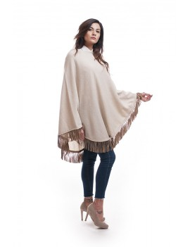 Circle poncho with tassles